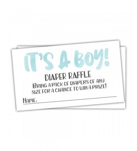 Blue Watercolor Diaper Raffle Tickets
