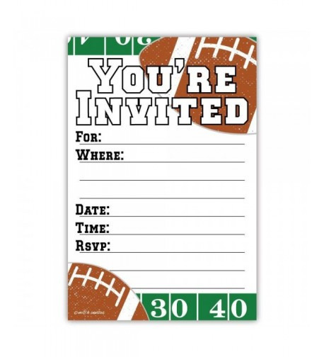 Football Party Invitations Count Envelopes