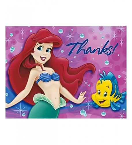 Little Mermaid Thank You Notes