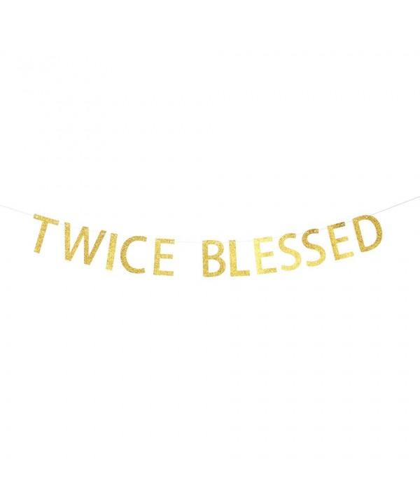 INNORU Twice Blessed Glitter Banner