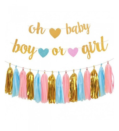Gender Reveal Party Decorations Glitter