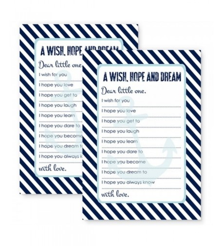 Nautical Wishes Baby Shower Cards