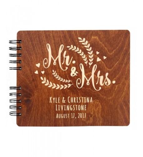 Personalized Wedding Vintage Mahogany Hardcover