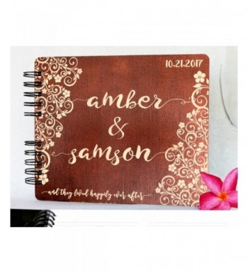 Personalized Anniversary Guestbook Newlyweds Mahogany