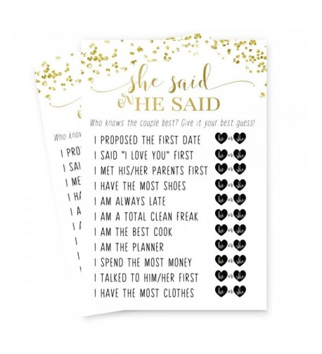 Abstract Bridal Shower Games Cards