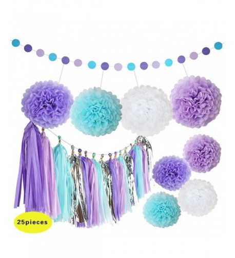Mermaid Decorations Flowers Garland Birthday
