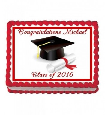 Graduation Edible Frosting Cake Topper