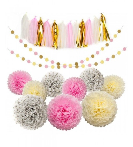 flowers Garland Glitter Birthday Decorations