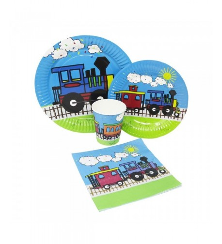 Blue Orchards Standard Tableware Train Themed