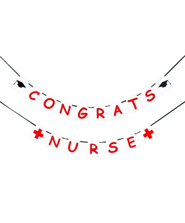 Congrats Nurse Banner Graduation Decor