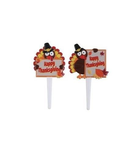 Thanksgiving Turkey Cupcake Picks pcs