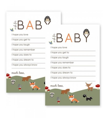 Woodland Wishes Baby Shower Game