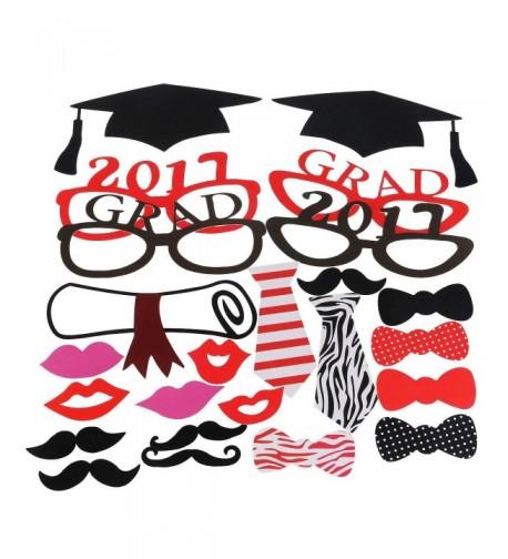 Tinksky Graduation Decorations Mustache Stick 24pcs