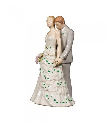 Shamrock Bride Porcelain Wedding Topper