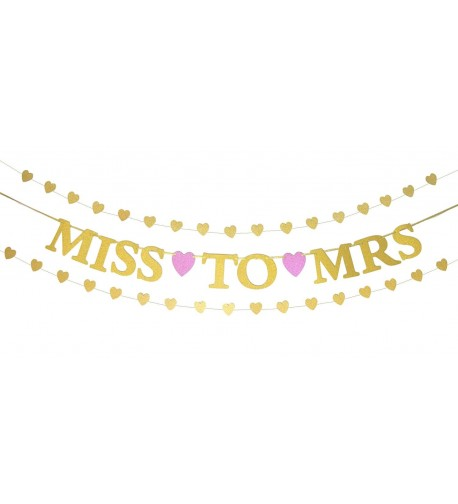 Miss Banner Glitter Heart Shaped Garlands