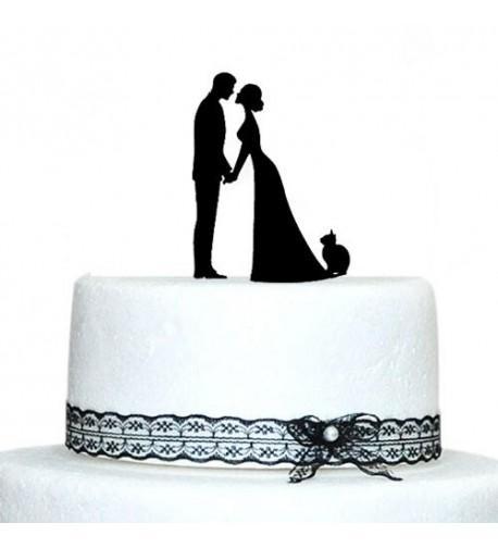Wedding Topper Bride Groom Silhouette