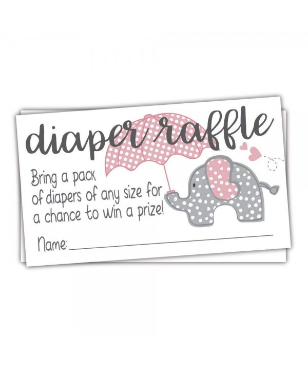 Elephant Diaper Raffle Tickets Count