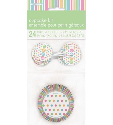 Pastel Baby Shower Cupcake Kit