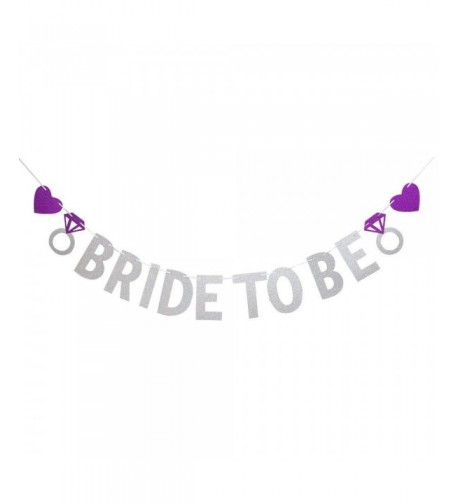 Banner Silver Wedding Bridal Bunting