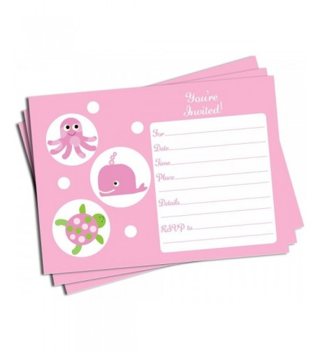 Pink Under Invitations Envelopes Large