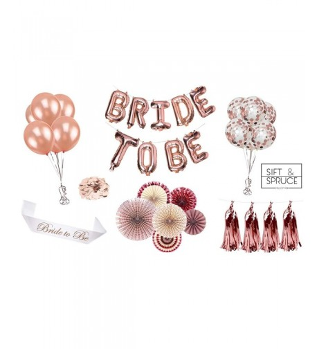 Bridal Decorations Bachelorette Balloons Confetti