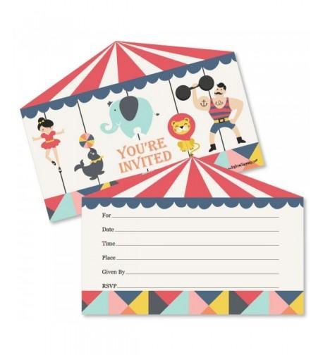 Carnival Fill Invitations Invitation Envelopes