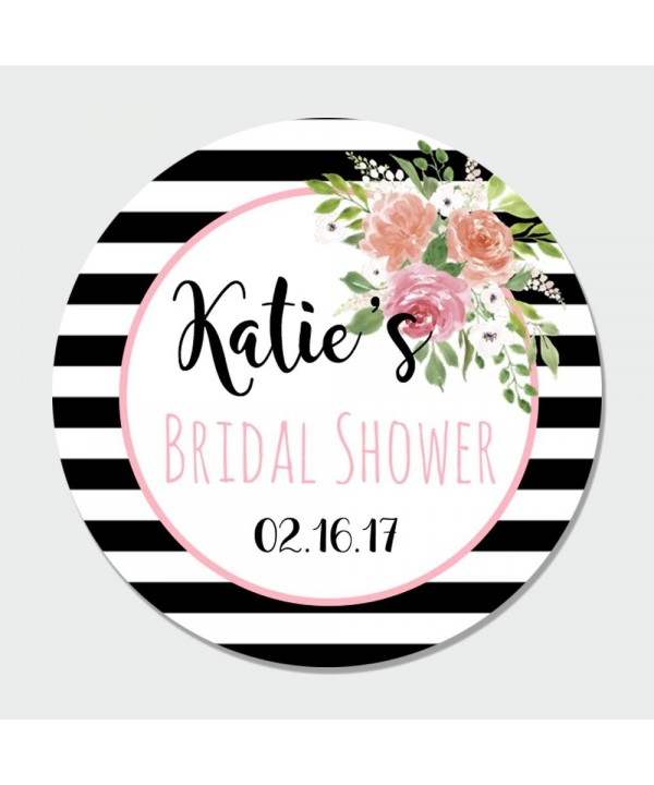 Customized Floral Bridal Shower Stickers
