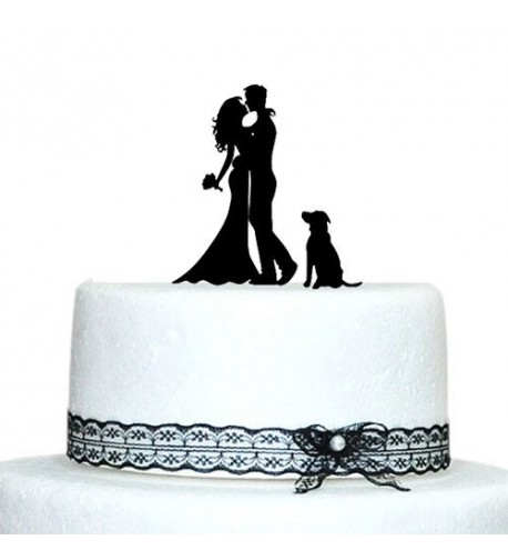 Buythrow Bride Silhouette Wedding Topper