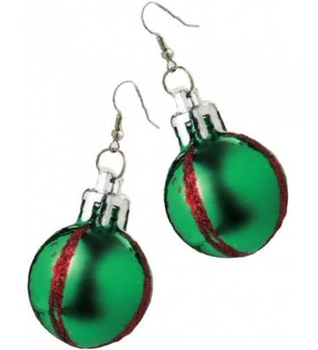 Rubies Costume Green Christmas Earrings