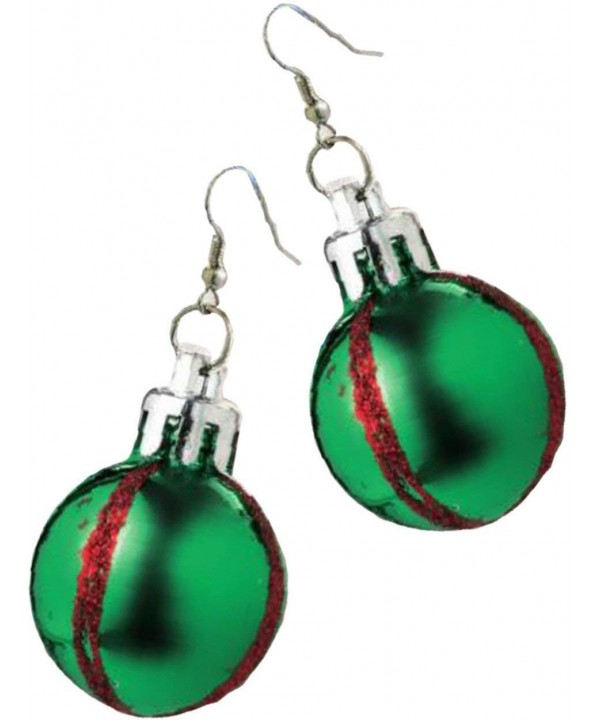Rubies Costume Green Christmas Earrings