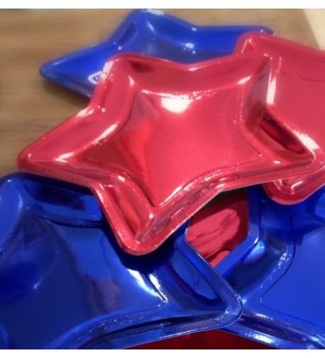 Shaped Shiny Patriotic Paper Plates