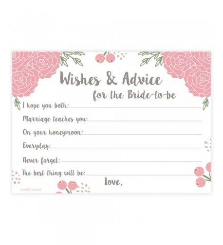 Blossoms Floral Bridal Wishes Activity