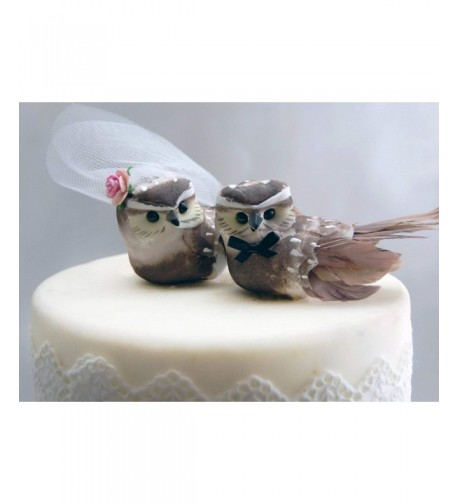 Owl Cake Topper Cocoa Brown