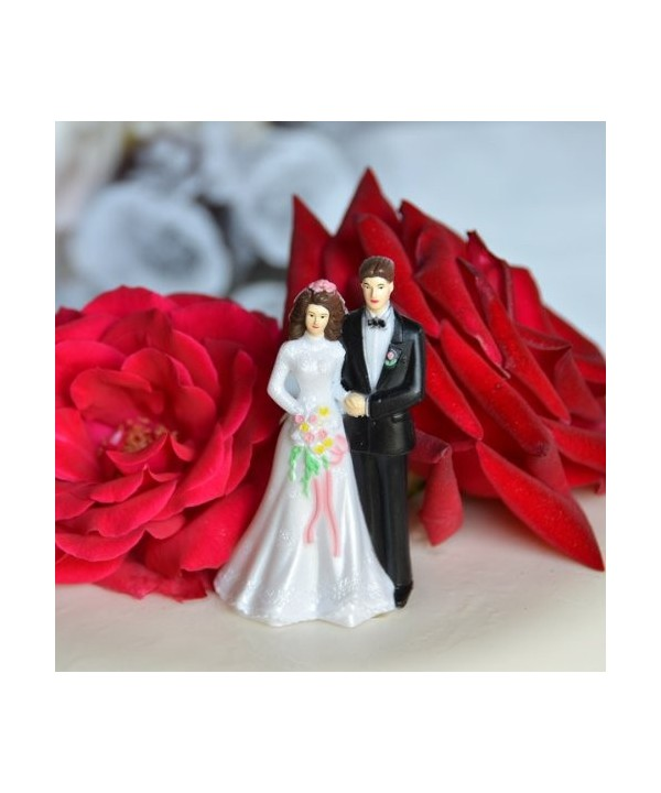 Bride Groom Cake Topper Complexion